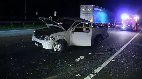 Ute driver in hospital after three vehicle crash in Melbourne's south-east