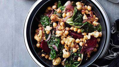 "<a href=""http://kitchen.nine.com.au/2016/05/16/19/57/warm-cauliflower-chickpea-and-beetroot-salad"" target=""_top"">Warm cauliflower, chickpea and beetroot salad<br> </a>"