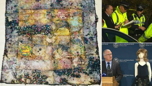 Homemade quilt could help identify remains of little girl dumped in South Australian scrub