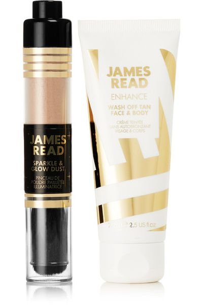 "<p>Body</p> <p><a href=""https://www.net-a-porter.com/au/en/product/1017312/james_read/party-all-night-kit--wash-off-tan-and-sparkle---glow-dust"" target=""_blank"" draggable=""false"">James Read Party All Night Kit: Wash off Tan and Sparkle &amp; Glow Dust, $25.23</a></p>"