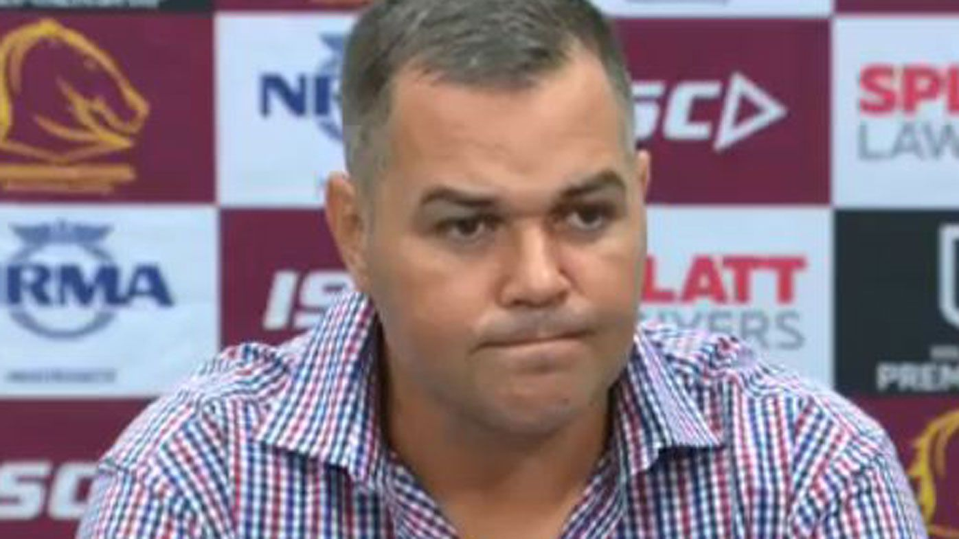 Anthony Seibold sets stage for spicy NRL clash by walking out of press conference