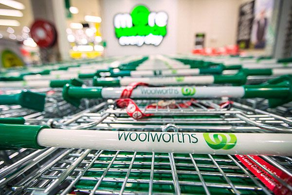 Woolies shopping trolley