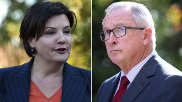 Jodi McKay and Brad Hazzard.