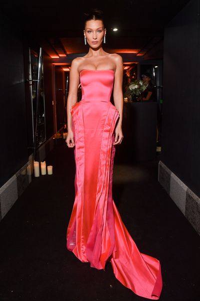 Bella Hadid attends the Naked Heart France Gala Dinner as part of the Paris Fashion Week