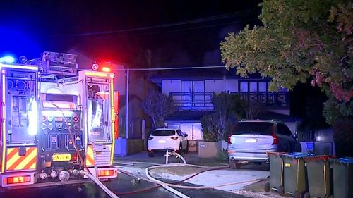 The blaze was contained, although the house was severely damaged.