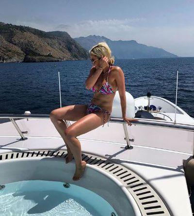 Roxy Jacenko in an Emilio Pucci bikini in Nerano, Italy