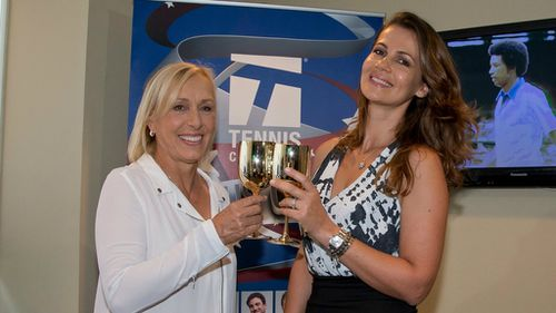Tennis great Martina Navratilova proposes to girlfriend on big screen at US Open
