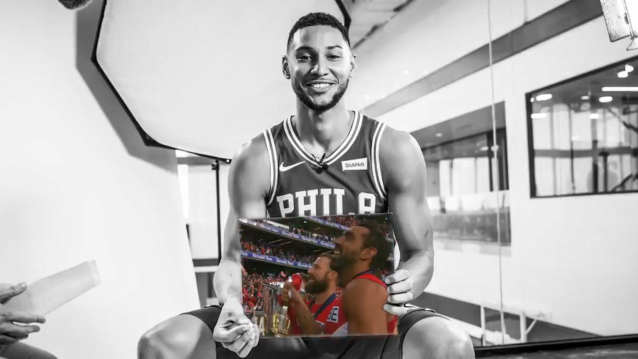 Ben Simmons pays tribute to AFL legend Adam Goodes by naming him Black History Month inspiration