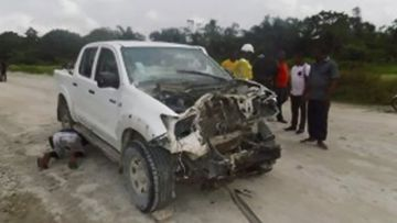 Gunmen attacked the convoy in Cross River. (Flux Connect / Ike Uchechukwu)
