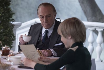 """Christopher Plummer (left) and Charlie Shotwell (right) in a scene from """"All the Money in the World."""""""