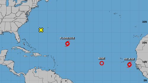 A number of storms are in the Atlantic Ocean, some with the possibility of becoming Hurricanes.