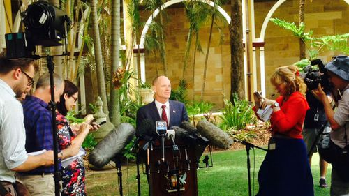 Queensland Premier Campbell Newman announces the up coming election today. (9NEWS)