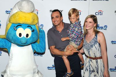 <i>The Simpsons</i>' Hank Azaria with Hal Azaria and Katie Wright.