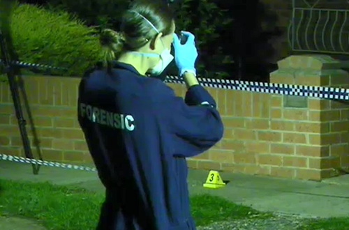 The woman, who is clinging to life, has not been identified. (9NEWS)