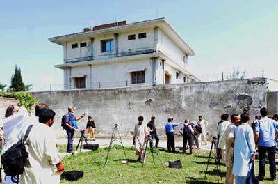 Osama bin Laden's Pakistan compound. (AAP)
