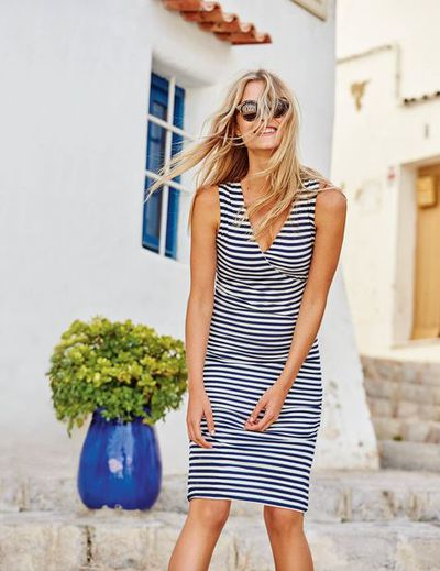"""<a href=""""http://www.bodenclothing.com.au/en-au/clearance/womens-dresses/smart-day-dresses/ww067/womens-crossover-ruched-dress"""" target=""""_blank"""">Boden Crossover Ruched Dress, $139.</a>"""