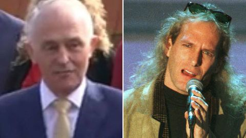 Malcolm Turnbull as Michael Bolton, and Michael Bolton.