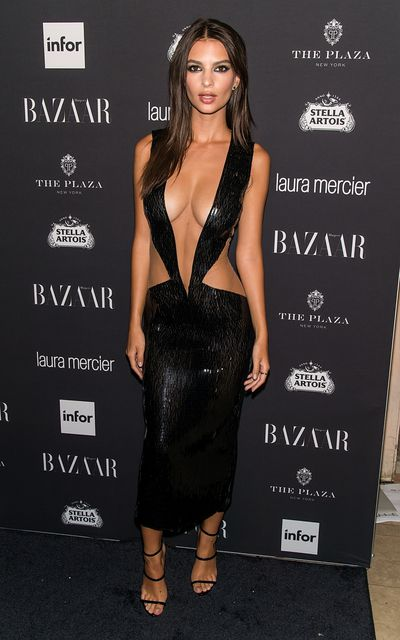 Emily Ratajkowski in Julien Macdonald at the Harper's BAZAAR ICONS By Carine Roitfeld in New York, September, 2016