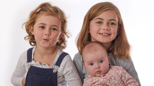 Emily and Sam Tindal have three daughters - Rose (5), Clara (7) and Eleni who is three months old.