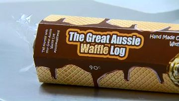 The Great Aussie Waffle Log will soon hit shelves, but will it be as good as the Polly Waffle? (9NEWS)