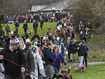 Hundreds of dog owners turned up for Marley's last walk.