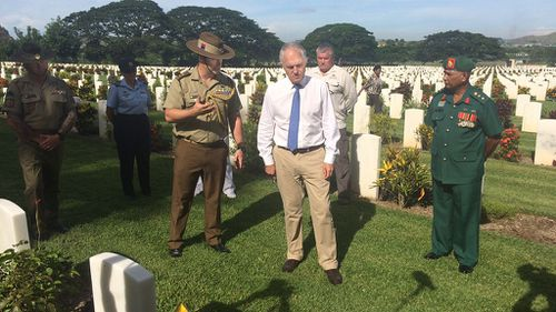 There are 3300 men, and one woman, buried at the site. (Joel Dry/9NEWS)
