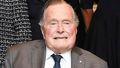 George H W Bush hospitalised with blood infection