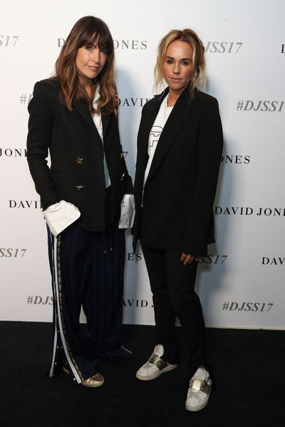 Claire Tregoning and Pip Edwards from PE Nation, David Jones spring/summer '17 launch, Sydney