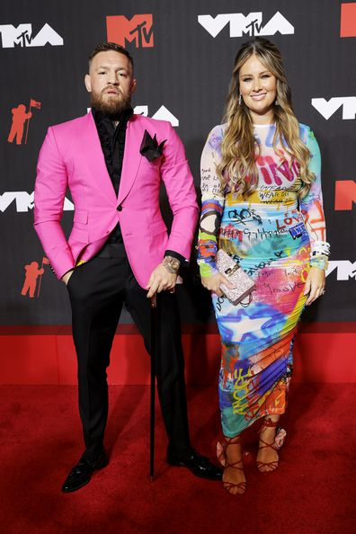 Conor McGregor and wife Dee Devlin attend the 2021 MTV Video Music Awards at Barclays Center on September 12, 2021 in the Brooklyn borough of New York City.