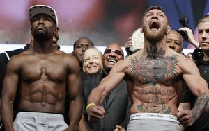 Floyd Mayweather Conor McGregor make weight ahead of blockbuster bout