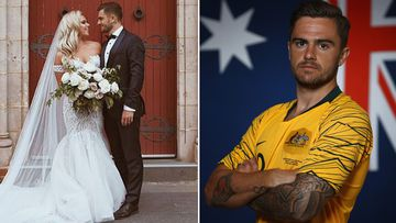 Socceroo star's honeymoon on hold for World Cup dream