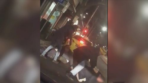 The two men were attacked by three others in Melbourne this morning. Picture: Victoria Police