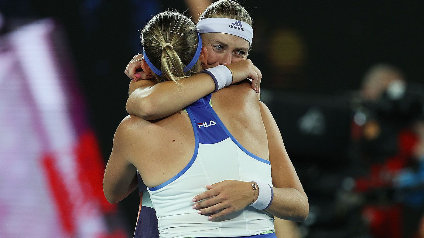 Australian Open doubles champions tear up in emotional tribute