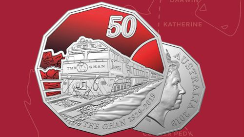 New 50 cent coin pays tribute to 90 years of The Ghan