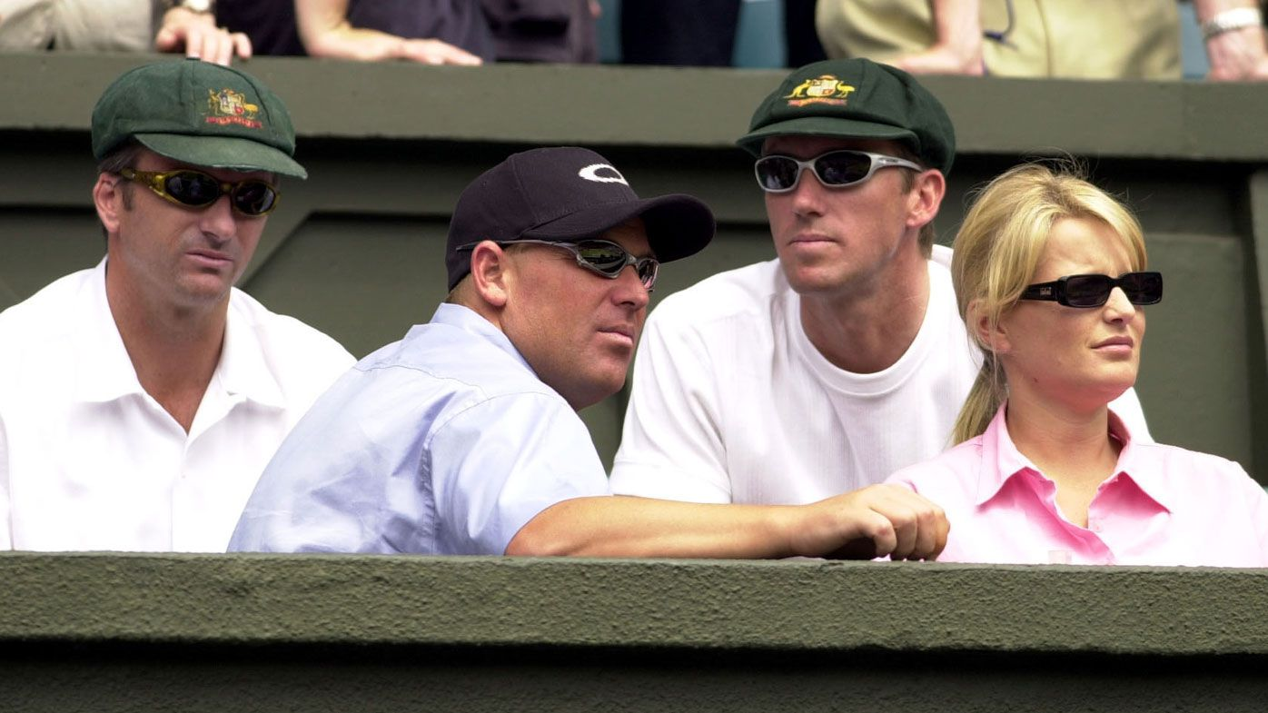 Warne, Waugh, McGrath at Wimbledon
