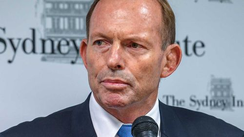 Former prime minister Tony Abbott believes Ms Cash should apologise for her comments. (AAP)