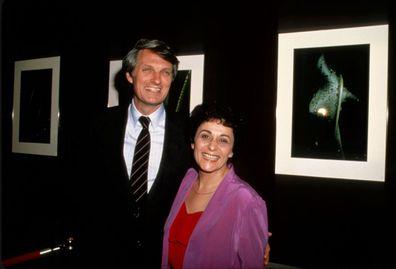 Alan Alda and Arlene Alda at NYC exhibit.