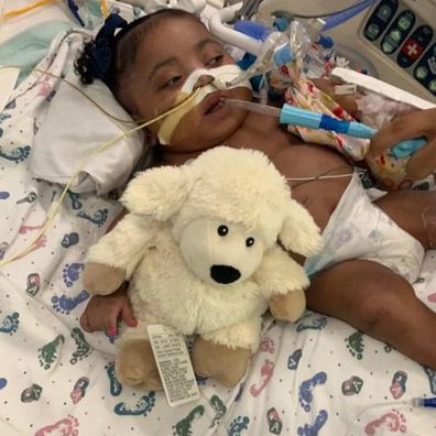 Tinslee Lewis hasn't left hospital since her premature birth.