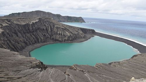 The view from the top of one of the points on the island. Picture: NASA