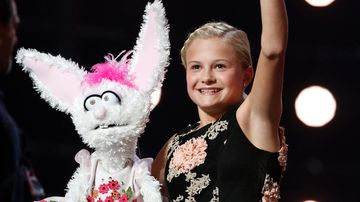 Darci Lynne Farmer, of Oklahoma City, beat out another youngster, 10-year-old singer Angelica Hale, for the title last night. (AP)
