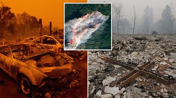 No one is left in Paradise. Abandoned, charred vehicles clutter the main thoroughfare, evidence of the panicked evacuation a day earlier as a wildfire tore through the Northern California community.