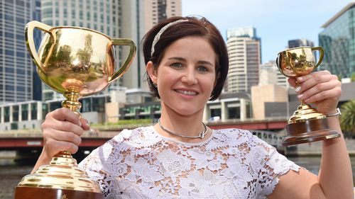 Winners are grinners: Michelle Payne. (9NEWS)