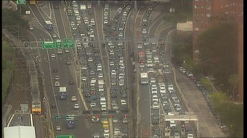 Overheight truck in Sydney Harbour Tunnel causes traffic chaos