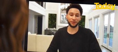 Ben Simmons discussed his experiences with racism with Today presenter Brooke Boney.