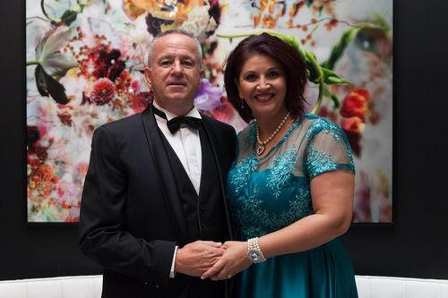 Russ and Shar Moore raising funds at their charity gala dinner - Where Dreams Come True - in Brisbane in May 2016. Picture: Supplied