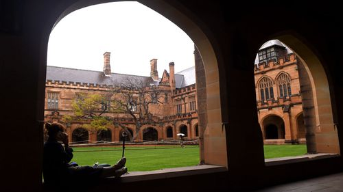 A student at the University of Sydney. (AAP)