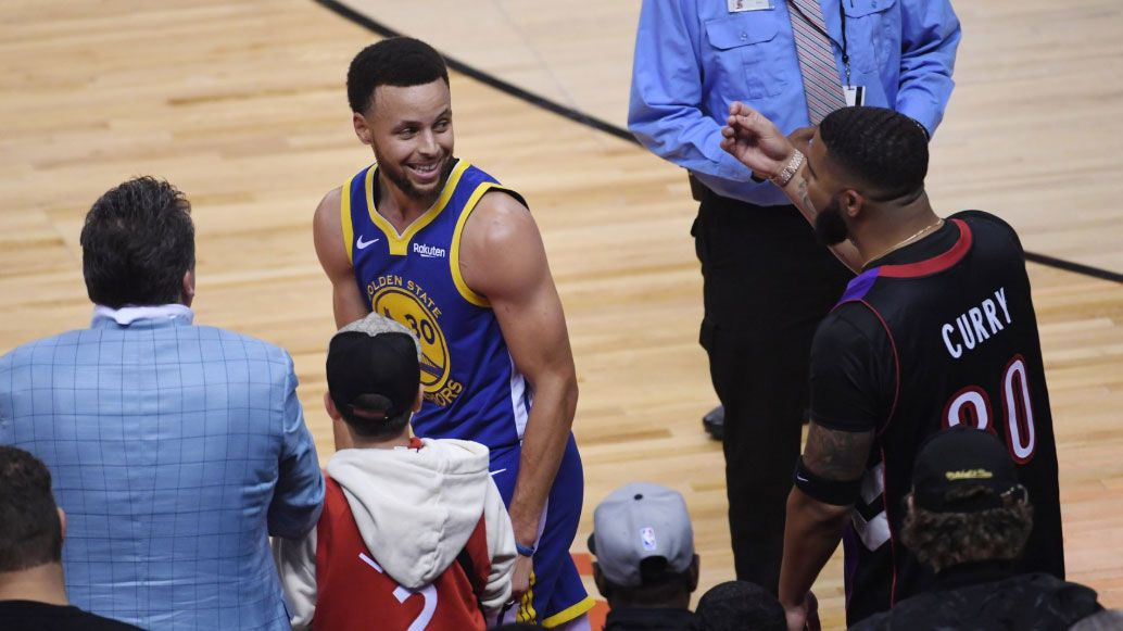 NBA Finals: Drake vs Steph Curry, Game 1
