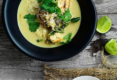 Lobster in coconut broth