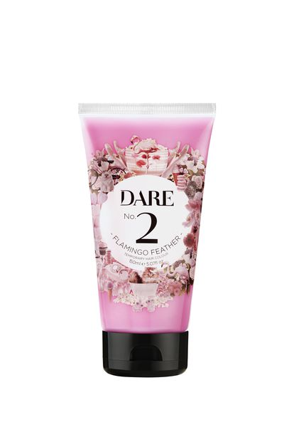 "Exact Match- <a href=""https://www.hairhousewarehouse.com.au/Dare-2-Flamingo-Feather-150mL"" target=""_blank"" draggable=""false"">DARE Temporary Hair Colour No.2 Flamingo Feather(150ml), $19.95</a>"