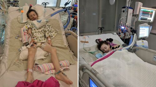 Shaylah, affectionately called Dolly, was rushed to Monash Children's Hospital, put in an induced coma and underwent surgery for two-and-a-half hours on Tuesday.